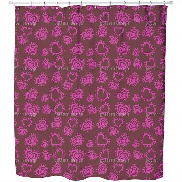 From The Bottom of My Heart Shower Curtain