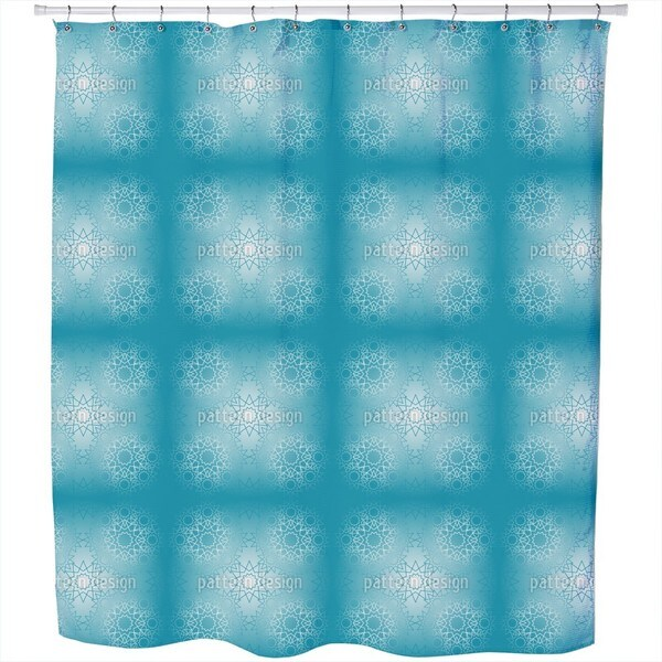 Frozen Lines Shower Curtain