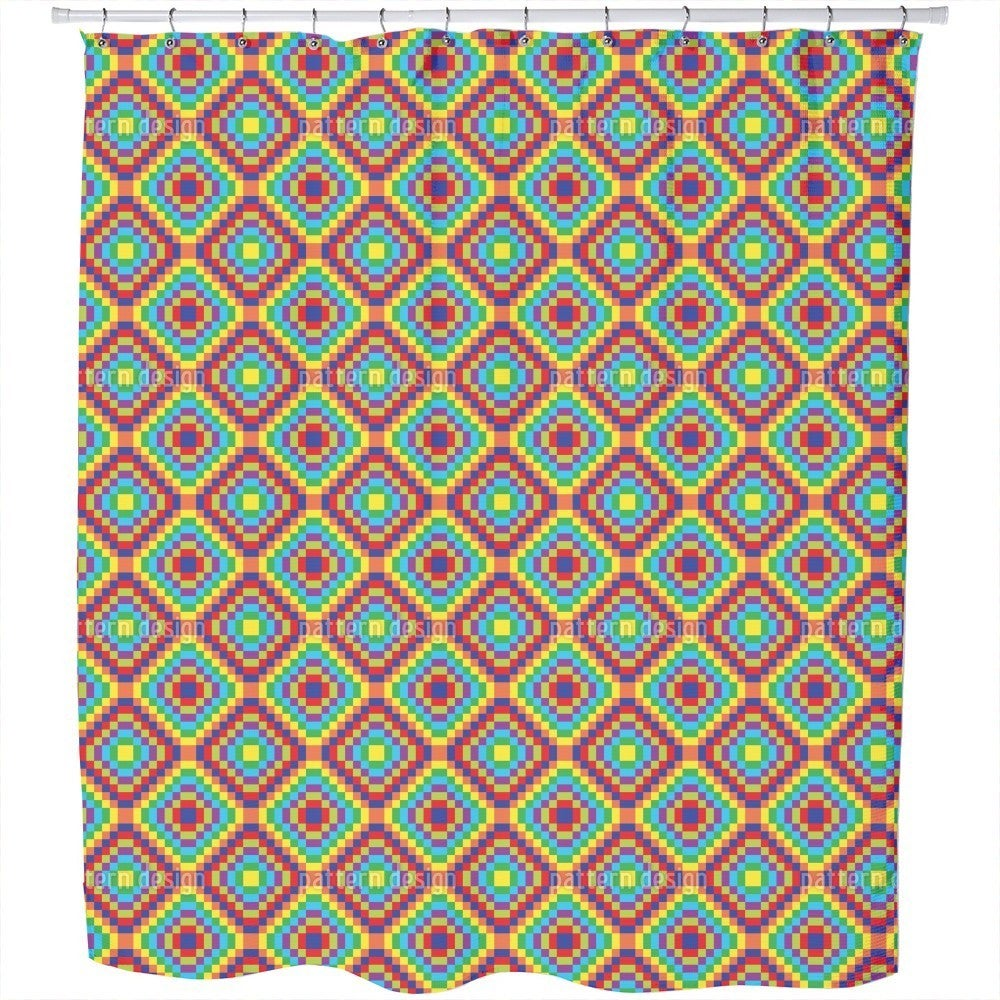 Uneekee Patchwork To The Square Shower Curtain (Regular (...