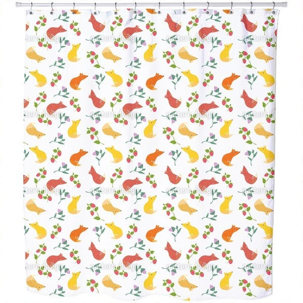 Fox Friends Shower Curtain