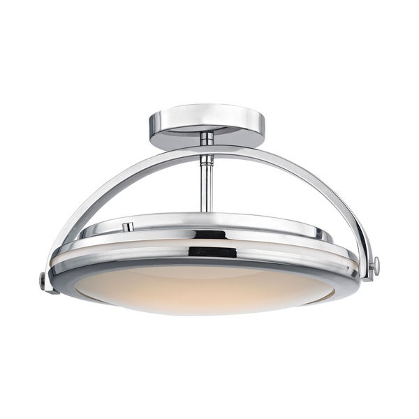 Shop Alico Quincy 1-light LED Semi Flush In Chrome And