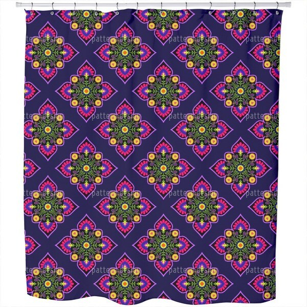 Folklore To The Square Shower Curtain