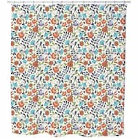 Folklore Flowers On Vases Shower Curtain