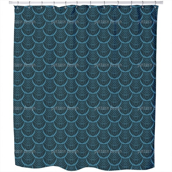 Peacock Feathers Deco Shower Curtain