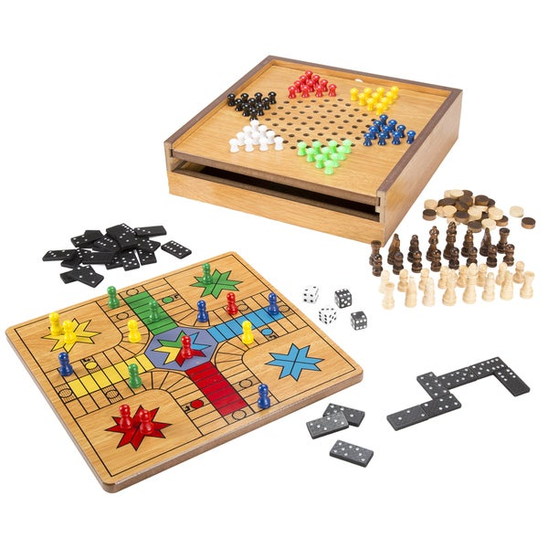 Hey! Play! 7-in-1 Combo Game - Chess, Ludo, Chinese Checkers & More
