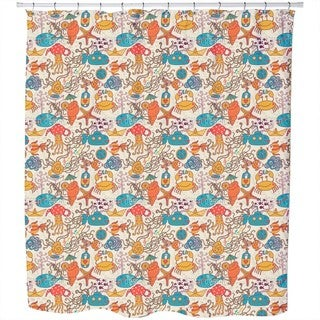 Party in The Yellow Submarine Shower Curtain