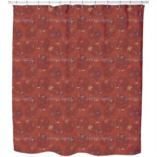 Party in Red Shower Curtain