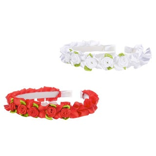 Crummy Bunny Flower Rose Headband Set