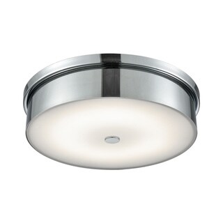 Alico Towne Large Round LED Flush Mount in Chrome and Opal Glass