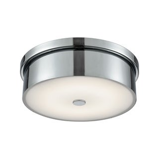 Alico Towne Small Round LED Flush Mount in Chrome and Opal Glass
