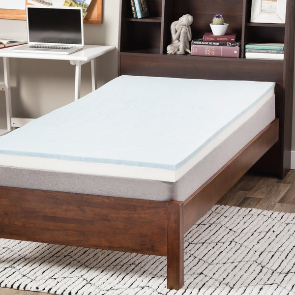 Comforpedic Beautyrest 2 In Gel Memory Foam Mattress Topper Select Luxury Dorm 3-inch Gel Memory Foam Flippable ...