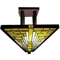 Meljane 1-light Multi-color 14 inch Tiffany-style Ceiling Lamp