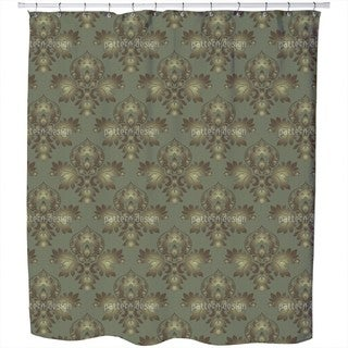 Modern Brocade Design Shower Curtain