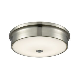 Alico Towne Small Round LED Flush Mount in Satin Nickel and Opal Glass