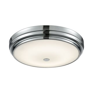 Alico Garvey Large Round LED Flush Mount in Chrome and Opal Glass
