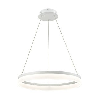 Alico Cycloid Medium 1-light LED Pendant in Matte White with Acrylic Diffuser