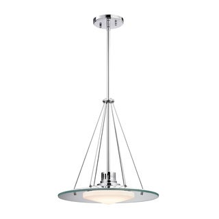 Alico Tribune 1-light LED Pendant in Chrome and Opal Glass