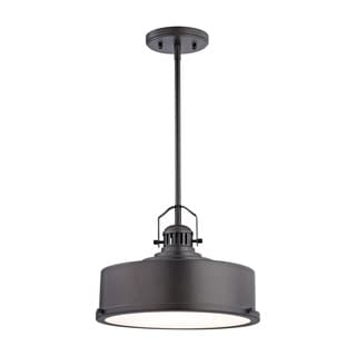 Alico Rexford 1-light LED Pendant in Oiled Bronze