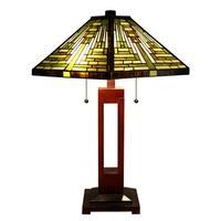 Juanita 2-light Multi-color 25 inch Tiffany-style Table Lamp