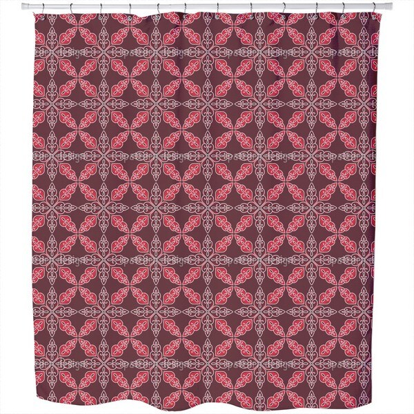 Moroccan Red Shower Curtain