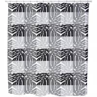 Monstera Grey Shower Curtain