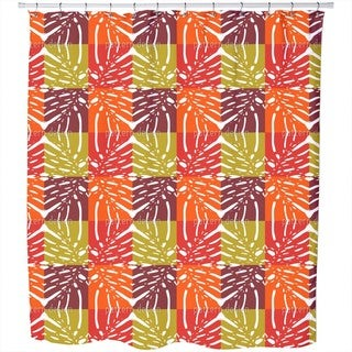 Monstera Color Shower Curtain