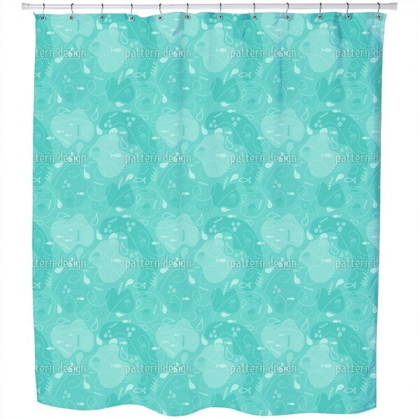 Miros Underwater Patchwork Shower Curtain