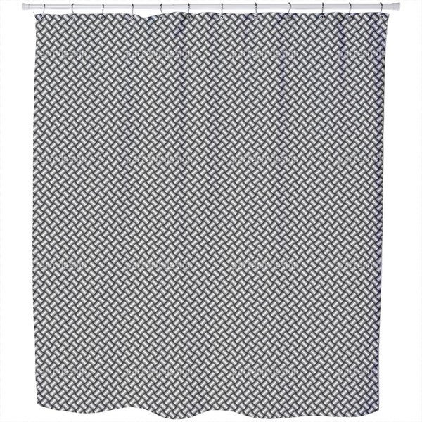Metal Weave Shower Curtain