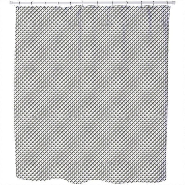Metal Grid Shower Curtain
