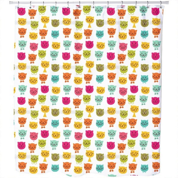 Meow Meow Shower Curtain