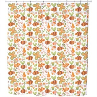 Mellifluous Bees Shower Curtain