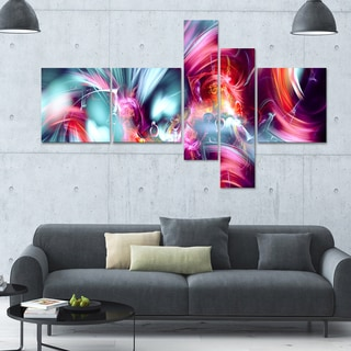 Designart 'Take Me Over' Large 63x36 Contemporary Canvas Art - 5 Panels