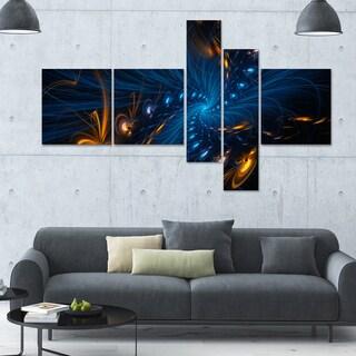 Designart 'Illumination' Large 63x36 Contemporary Canvas Art - 5 Panels