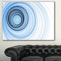 Designart 'Blue Radio Waves' Abstract Digital Art Canvas Print