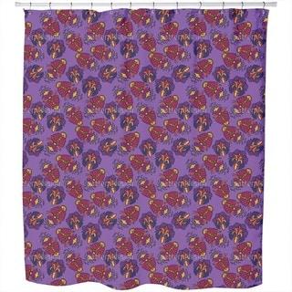High Quality Lush Flora Royal Shower Curtain