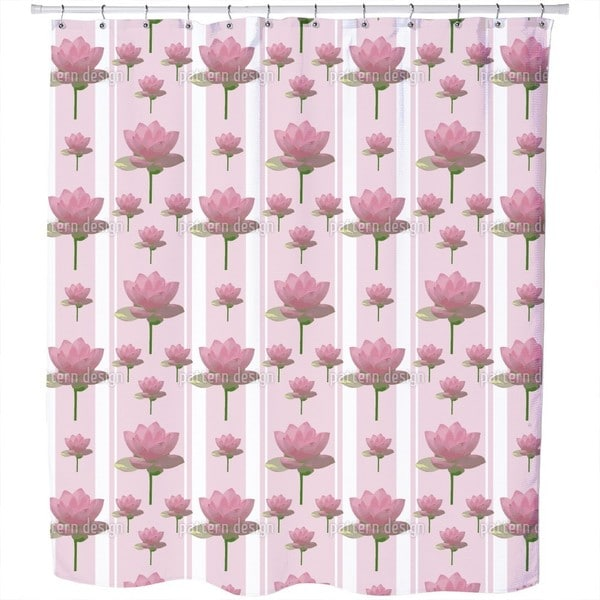 Lotus Flowers On Patrol Shower Curtain