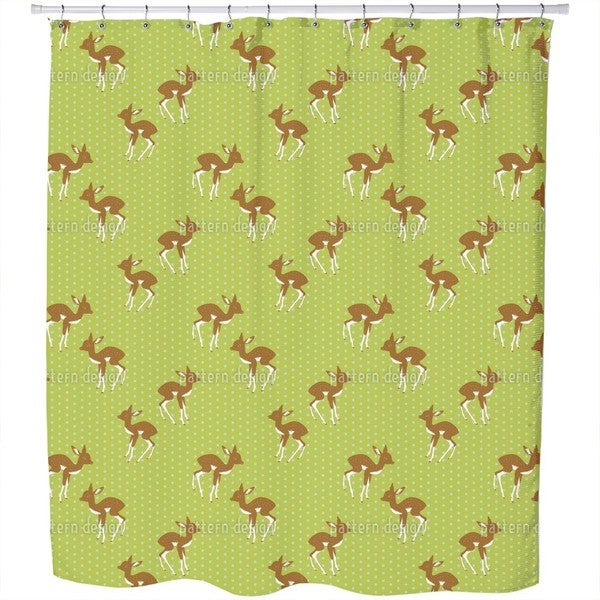 Little Polka Fawn Shower Curtain