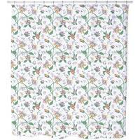Little Flower Fantasy White Shower Curtain