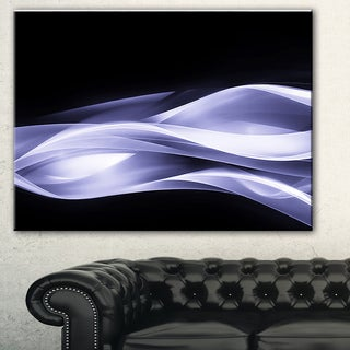 Designart 'Fractal Lines Purple in Black' Abstract Digital Art Canvas Print