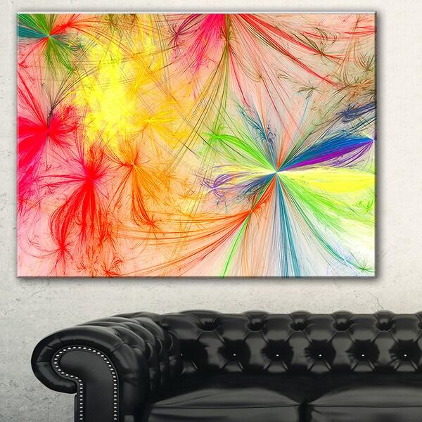 Shop Designart Christmas Fireworks Colorful Digital Art