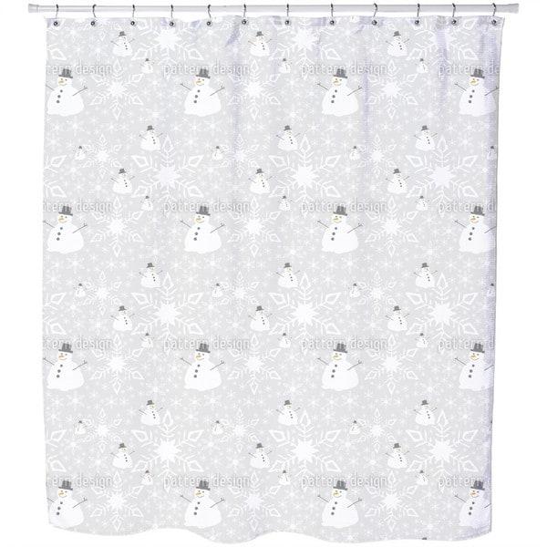 Let It Snow Man Shower Curtain