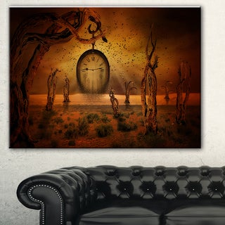 Designart 'End of Time' Abstract Digital Art Canvas Print
