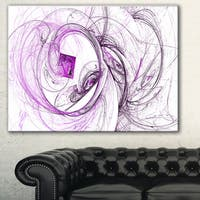 Designart 'Billowing Smoke Purple' Abstract Digital Art Canvas Print