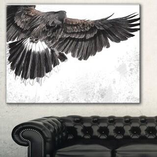 Designart 'Low-flying Eagle Illustration' Animal Digital Art Canvas Print