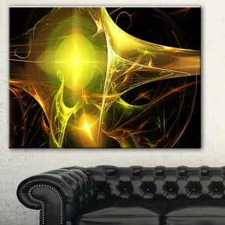 Designart 'Golden Bright Candle' Abstract Digital Art Canvas Print