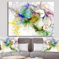 Designart 'Wings of Angels Purple' Abstract Digital Art Canvas Print