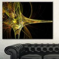Designart 'Large Fractal Artwork Yellow' Abstract Digital Art Canvas Print