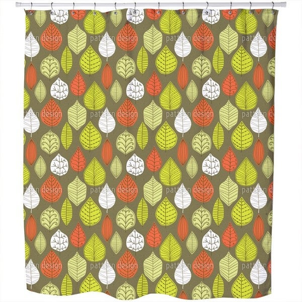 Leaves in Style Shower Curtain
