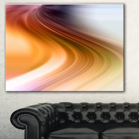 Designart 'Rays of Speed Green Orange' Abstract Digital Canvas Print