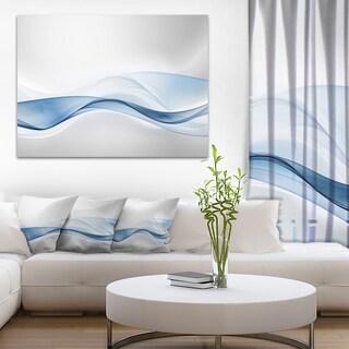 Designart '3D Wave of Water Splash' Abstract Digital Art Canvas Print